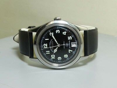VIintage West End Military Automatic Date Swiss Mens Antique Watch R10 Old
