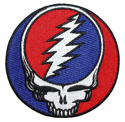 "Grateful Dead 3.5"" Steal Your Face Album Logo Rock Band Iron On Applique Patch"