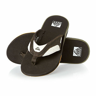 Chanclas Reef Leather Fanning White Brown abrebotellas flip flops ANTES 60€