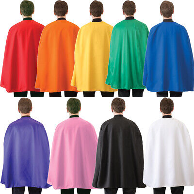 "Superhero Cape (Choose Your Color) 36"" Adult Super Hero Costume Halloween"