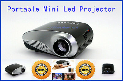 1080P HDMI Mini LED LCD Projector Portable Home Cinema Theater Player VGA USB TV