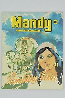 Mandy #52 1982 Vintage UK Magazine Girls Comic Picture Story Library