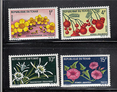 Chad 1969 Flowers MNH