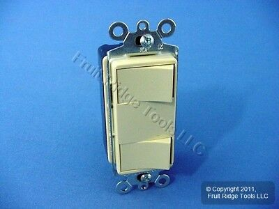 New Cooper Ivory DOUBLE Rocker Wall Light Switch Decorator Single Pole 15A 3282V