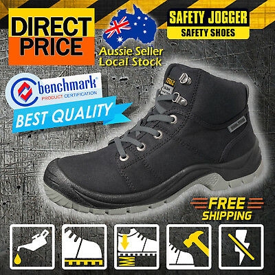 Clearance!! NEW Safety Jogger Boots Work Shoes Desert Steel Toe Black Antistatic