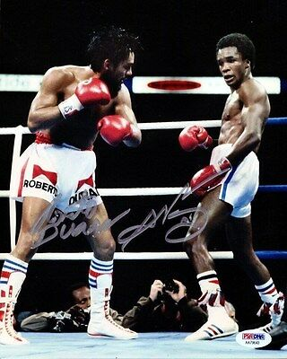 Sugar Ray Leonard & Roberto Duran Autographed Signed 8X10 Photo Psa/dna