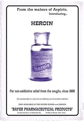Heroin 1898 Advertisement / poster repro vintage Bayer