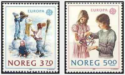 Timbres Europa Norvège 976/7 ** lot 15072