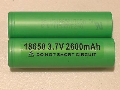2 AUTHENTIC SONY US 18650 VTC5A HIGH DRAIN 35A Li-on Battery 2600mAh w/FREE CASE
