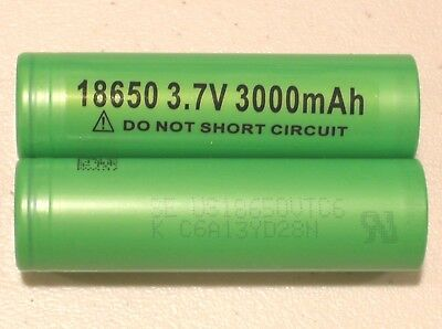 2 AUTHENTIC SONY US 18650 VTC6 HIGH DRAIN 30A Li-on Battery 3000mAh w/FREE CASE