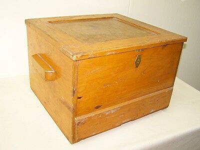 Beautiful old Wooden Box Workshop stools, Art Deco Vintage Design box Stool • £42.80