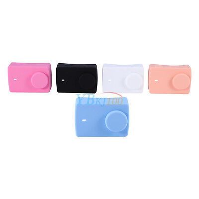 Silicone Case Cover Soft Skin For Xiaomi YI 4K Sport Action Camera 2 + Lens Cap