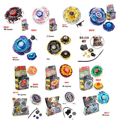 4D Beyblade Metal Master Top Rapidity Fight Launcher Grip Toy Pegasis BB118 BB70