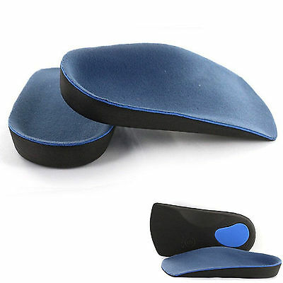 UP 3/4 Orthotic Insoles Heel Arch Support Plantar Fasciitis Flat Feet Pad Useful