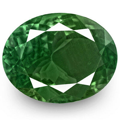3.19-Carat Deep Green Alexandrite with Strong Color-Change (GRS-Certified)