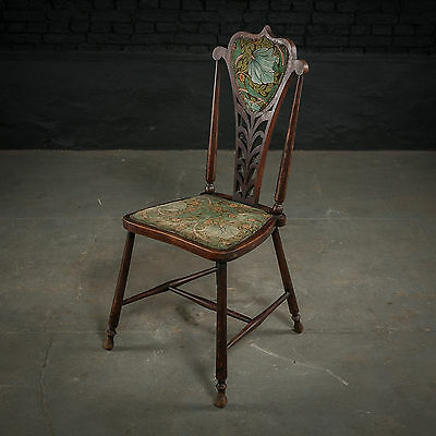 Elegant Art Nouveau Mahogany Chair with Original Upholstery