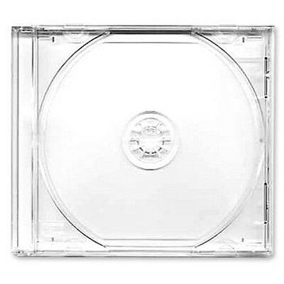 100 X CD / DVD Jewel 10.4mm Cases for 1 Disc with Clear Tray - Pack of 100