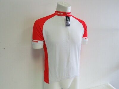 Small Men/'s Verge Pro Cycling Warehouse Long Sleeve Jersey White//Yell CLOSEOUT