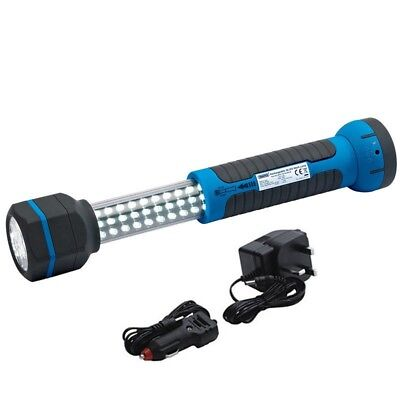 Draper 36 Led Rechargeable Telescopic Torch & Worklight Magnetic Inspection Lamp