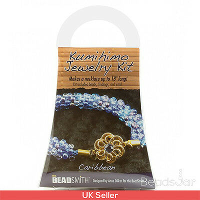 Beadsmith Kumihimo Jewellery/Necklace Starter Beads Kit Caribbean (A19/2)