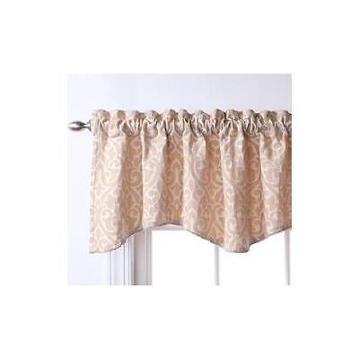 "Stylemaster Hudson Embroidered Lined Valance With Cording 52"" X 17"""
