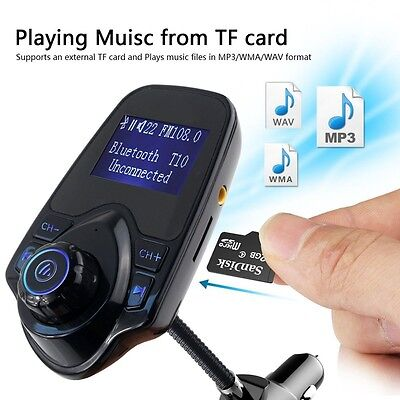 Bluetooth Wireless Radio Adapter Audio Receiver Stereo Music Car Kit USB Charger