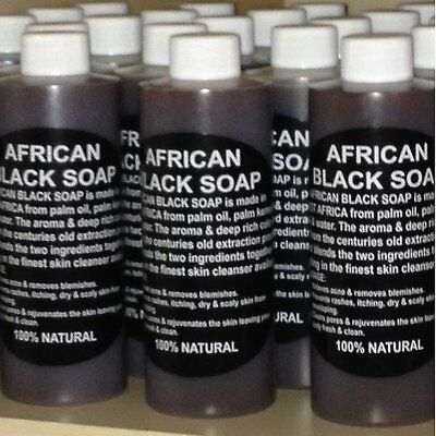 100% Pure Authentic Liquid African Black Soap From Ghana 16oz