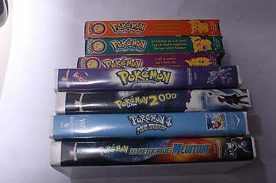 Pokemon Movie Lot of 7 VHS Tape - FRENCH