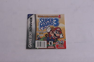 Nintendo Gameboy Advance - Super Mario 3 FRENCH Large Manual Only