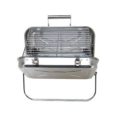 Portable Briefcase Grill BBQ Barbecue Camping Fun Charcoal Outdoor NEW