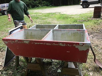 Antique Vintage Old Deep Double Basin Concrete Sink Laundry Slop
