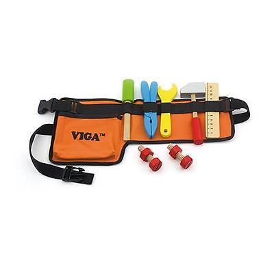 NEW Viga Toys Carpenters Tool Belt with Wooden Tools