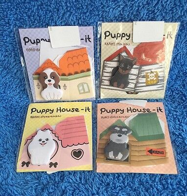 Super Cute Puppy House-it Post It Notes - MELB STOCK