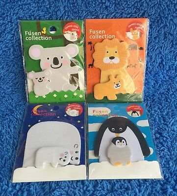 Super Cute Animal Post It Notes - Koala, Lion, Penguin And Polar Bear MELB STOCK