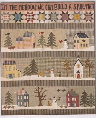 In the Meadow We Can Build a Snowman - pieced & applique BOM quilt PATTERN