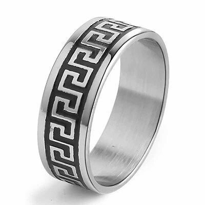 Stainless Steel Ring Mens Jewelry Size 8/9/10/11/12/13/14 Wedding