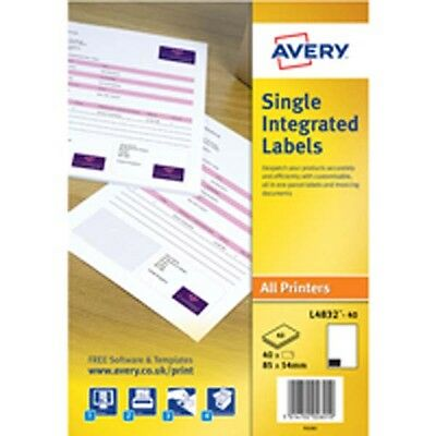 Avery Sgle Integrated Label 85X54 P1000