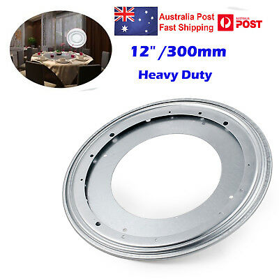 12inch Lazy Susan Metal Bearing Rotating Swivel Turntable For TV Rack Desk Round