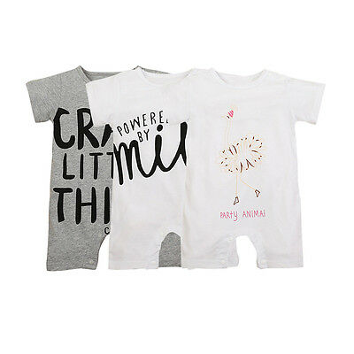 New Newborn Kids Baby Infant Boy Girl Bodysuit Romper Jumpsuit Outfit Clothes