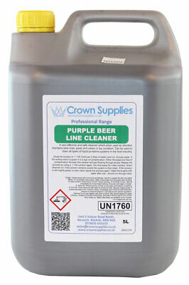 Crown Supplies Beer Line Cleaner 5L Purple