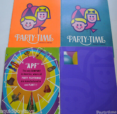 lot of 4 PARTY Toy Catalogs Party Time / APF 1970s 1980s