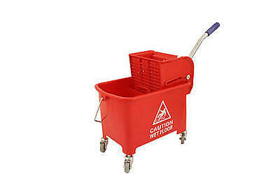 Crown Supplies Mop Bucket & Wringer Double Red