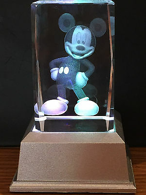 Mickey Mouse 3D Laser Crystal With Led Base Colour Change Night Light Ljs-161