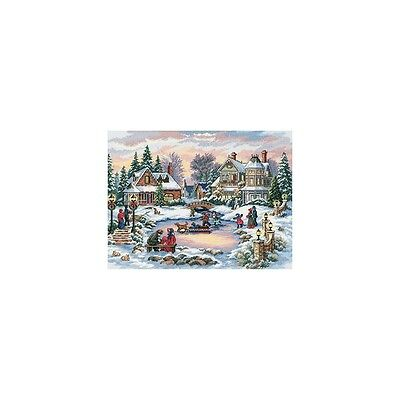 """""""Gold Collection A Treasured Time Counted Cross Stitch Kit-16""""""""X12"""""""" 16 Count"""""""