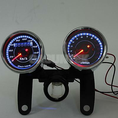 Motorcycle Odometer Tachometer Speedo Meter Tacho Gauge With Bracket