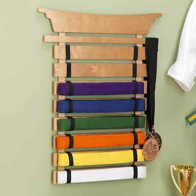 KidKraft Unpersonalized Martial Arts Belt Display Holder, Wall Storage Organizer