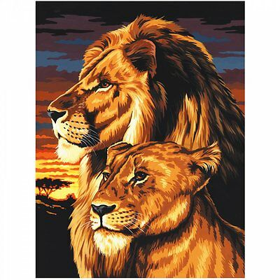 Royal & Langnickel Lion & Lioness Painting By Numbers Artist Canvas Series
