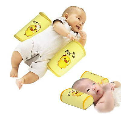 Baby Infant Newborn Sleep Positioner Prevent Flat Head Anti-roll Shape Pillow YQ