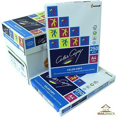 Color Copy A4 White Card PREMIUM 250gsm Printing 1 2 3 4 5 Reams Of 125 Sheets
