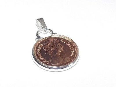 1973 half pence Coin 44th Birthday Pendant ready to hang
